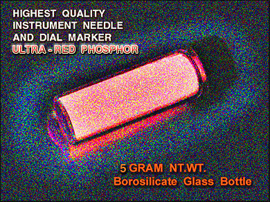 Red Strontium Aluminate Phosphor 5gmsgreen 532nm Sensitive Phosphor-glass Vial