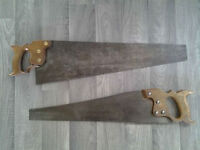 "(2) Vintage Hand Saws.(20"" & 22"")."