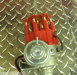 Ford 289 302 Ready To Run Hei Distributor Red Small Base 5.0 Electronic