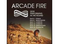 *BLOCK N6* Arcade Fire Tickets Wembley Arena London 11th April 2018
