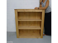 Solid Wood. Large Bookcase Shelving - New