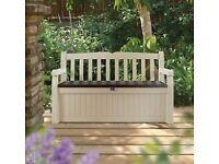 Keter Eden Garden Storage Bench.NEW.
