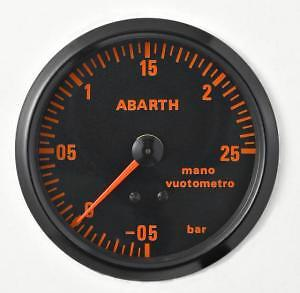 Manometro PRESSIONE TURBO Analogico Diff NERO Road Italia 80 mm MITI DI SEMPRE