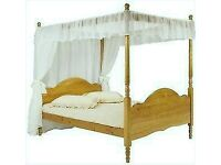 Four Poster Wooden Bed.. RRP £1495 Selling for Only £80