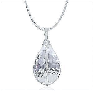 Quartz crystal necklace ebay clear quartz crystal necklaces aloadofball Gallery