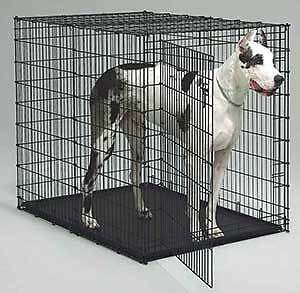 metal kennel or crate for extra large dog breeds