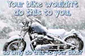 Indoor Heated Motorcycle Storage