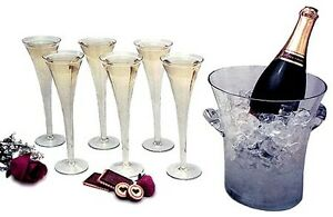 Luminescence 7-Piece, Romanian Crystal Champagne Serving Set!