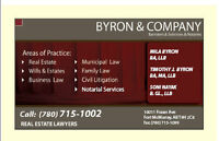 BYRON LAW - Notary Services, Commissioner for Oaths