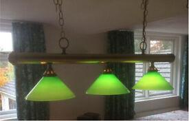 Snooker/pool lights