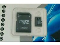 256gb and 64gb micro sd cards with adaptors, new
