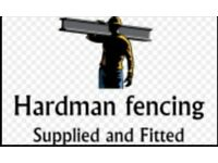 Hardmans fencing supplied and fitted