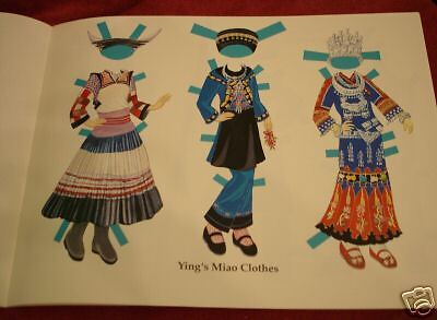 Chinese Costume Paper Doll Book
