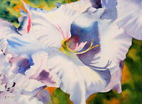 Painting White Flowers: Lager than Life