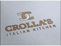 CROLLAS ITALIAN REQUIRE KITCHEN PORTER