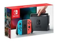 Brand New Nintendo Switch with 4 SEALED Games