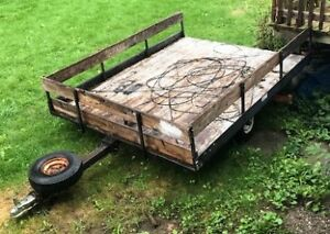 REDUCED - Older Double Snowmobile Trailer