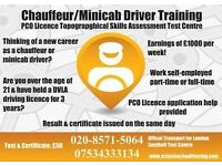 PCO Minicab driver training - Topographical skills training & test centre - Uber - Chauffeur