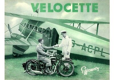 1935 Velocette motorcycles poster