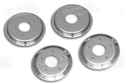 97-04 Corvette Brake Rotors Hub Covers NEW Chrome 4 Per Set 29815 Brake Rotor Hub Covers