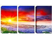 Brand New 3 Panel Canvas -Amazing Sunshine - This canvas has been reduced to clear from £70.00