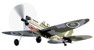 Spitfire Rubber Band Powered Model History Plane Kit