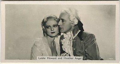 Leslie Howard + Heather Angel 1937 John Sinclair Film Stars Tobacco Card #47