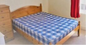 Double Bed Frame - Solid Pine