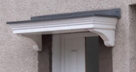 Modern new door canopy 200 mm long white and gray able to insert downlighter