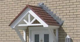 New GRP Apex Door canopies. Surplus to Requirements. ,