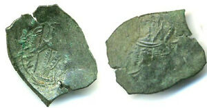 Scarce-small-trachy-Crusader-Kingdom-1204-1261AD-Constantinople
