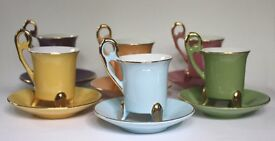 Vintage French Coffee Cups