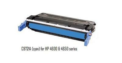 Used Compatible with HP C9721A Cyan Toner 4600 4650 series printers 92+ ()