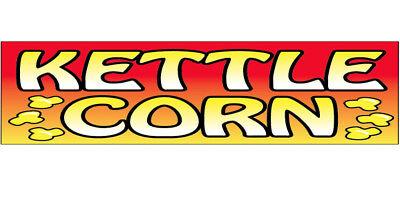 Kettle Corn Vinyl Banner Sign 2x10 Ft - Rb