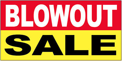 Blowout Sale - Vinyl Banner Store Clearance Sign 2x4 Ft - Ryb