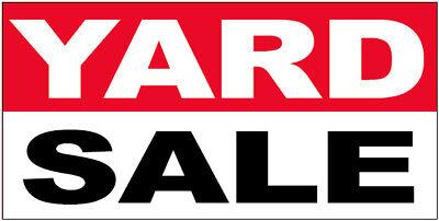 Yard Sale - Vinyl Banner Sign 2x4 Ft - Rwb