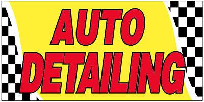 Auto Detailing Vinyl Banner Car Wash Sign 20x48 Inch - Yb