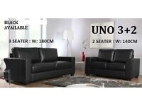 BRAND NEW (([]Ring NOw At 07784850934[]) LEATHER 3+2 SOFA BLACK OR CHOCOLATE BROWN