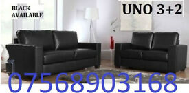 SOFA BOXING DAY BRANDED Italian leather 3+2 black or brown sofa set 6669