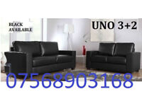 SOFA GOODER Italian leather 3+2 black or brown sofa set 389