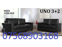 SOFA GOODER Italian leather 3+2 black or brown sofa set 303