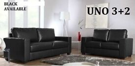 BUMPER BRAND OFFER SOFA SET 3+2 AS IN PIC black or brown