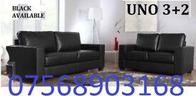 SOFA GOODER Italian leather 3+2 black or brown sofa set 06