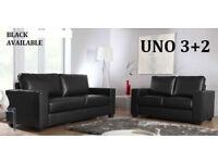 3/sale 3+2 Italian leather sofa brand new black or brown 46477BEAU