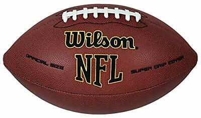 American football Wilson NFL Super Grip Official Size, American game and sport.
