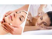 Full facial treatment + relaxing massage for 15£