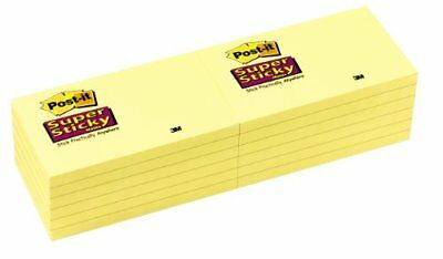 Post-it Super Sticky Note - Self-adhesive - 3 X 5 - Yellow - Paper 65512sscy