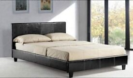 BRAND NEW Double Leather Bed and Memory Foam Orthopedic Mattress -60% off now-