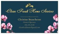 CLEAN FREAK HOME SERVICES LOOKING FOR MORE GREAT CUSTOMERS!!!