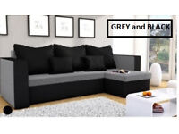 Corner sofa bed, free and fast delivery, left or right hand side